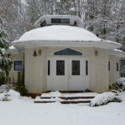 Temple in the snow